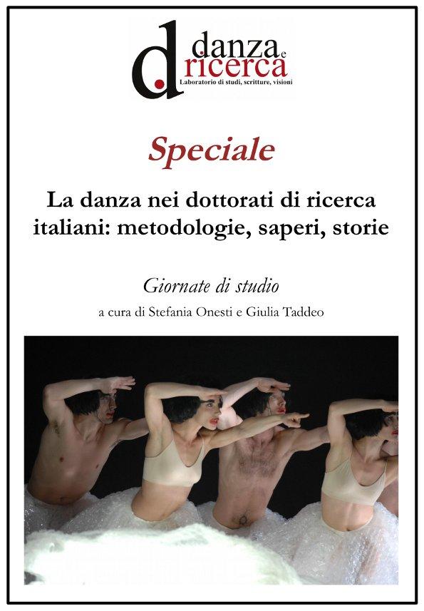 """Copertina - Speciale """"Danza e ricerca"""", numero 6"""
